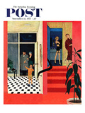 """Early Guests"" Saturday Evening Post Cover  November 23  1957"