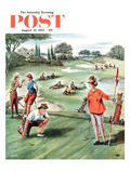 """No Playing Through"" Saturday Evening Post Cover  August 31  1957"