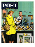 """Frame-Up"" Saturday Evening Post Cover  April 30  1955"