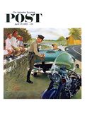 """Ticket for Roadster"" Saturday Evening Post Cover  April 27  1957"