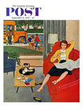 """Morning Coffee Break"" Saturday Evening Post Cover  September 12  1959"