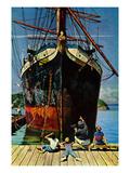 """""""Big Ship at Dock""""  November 5  1955"""