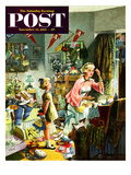"""Getting Ready for a Date"" Saturday Evening Post Cover  November 13  1954"