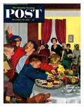 &quot;Crashing Mom&#39;s Card Party&quot; Saturday Evening Post Cover  December 20  1952