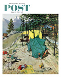&quot;Making Camp&quot; Saturday Evening Post Cover  July 19  1958