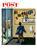 &quot;Lost His Mitten&quot; Saturday Evening Post Cover  December 14  1957