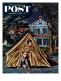 """Backyard Campers"" Saturday Evening Post Cover  September 5  1953"