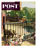 &quot;Feeding the Elephants&quot; Saturday Evening Post Cover  July 25  1953