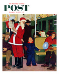 &quot;Giving Santa His Seat&quot; Saturday Evening Post Cover  December 10  1955