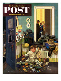 """Toddler Empties Purses"" Saturday Evening Post Cover  November 22  1952"