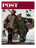 """Nothing but Decoys"" Saturday Evening Post Cover  December 1  1951"
