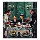 """""""Dessert Cart""""  January 1  1955"""