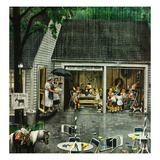 """Rain-out Birthday Party""  May 22  1954"