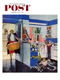 """Mother's Little Helpers"" Saturday Evening Post Cover  April 18  1953"