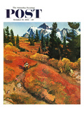 """Fall Photo Op"" Saturday Evening Post Cover  October 25  1958"