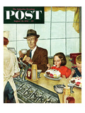 """Banana Split"" Saturday Evening Post Cover  August 16  1952"