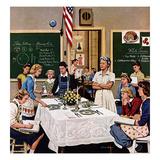 """""""Setting the Table"""", February 16, 1957 Giclée par Stevan Dohanos"""