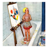 """Artist in the Bathtub""  October 28  1950"