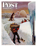 """Gathering Wood"" Saturday Evening Post Cover  January 27  1951"