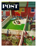 """Painting the Patio Green"" Saturday Evening Post Cover  May 2  1953"