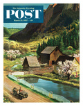 """Mountain Farm"" Saturday Evening Post Cover  March 23  1957"