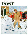 """Heating Oil Delivery"" Saturday Evening Post Cover  March 1  1958"