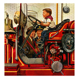 """Boy on Fire Truck""  November 14  1953"