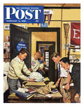 """Package from Home"" Saturday Evening Post Cover  February 3  1951"