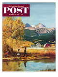 """Colorado Creek"" Saturday Evening Post Cover  October 13  1951"