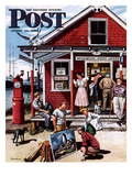 &quot;Coastal Postal Office&quot; Saturday Evening Post Cover  August 26  1950