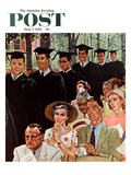 """Entrance of the Graduates"" Saturday Evening Post Cover  June 7  1958"