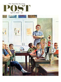 """Future Engineer"" Saturday Evening Post Cover  April 4  1959"