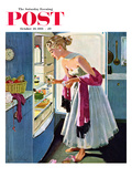 &quot;Prom Momento&quot; Saturday Evening Post Cover  October 29  1955