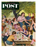 """Out of Ice Cream"" Saturday Evening Post Cover  June 27  1953"