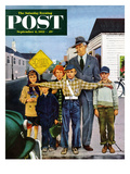"""Crossing Guard"" Saturday Evening Post Cover  September 6  1952"