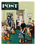 """Separation Anxiety"" Saturday Evening Post Cover  September 3  1955"