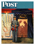 """Palmist"" Saturday Evening Post Cover  June 10  1950"
