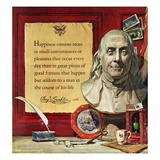 """Benjamin Franklin - Bust and Quote""  January 18  1958"