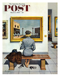 """Art Lover"" Saturday Evening Post Cover  March 3  1956"