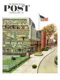"""World Series in TV Department"" Saturday Evening Post Cover  October 4  1958"