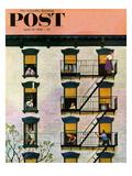 """Apartment Clarinetist"" Saturday Evening Post Cover  April 19  1958"