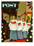 &quot;Boys Christmas Choir&quot; Saturday Evening Post Cover  December 26  1953