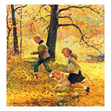 """Walking Home Through Leaves""  October 7  1950"