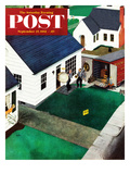 """The Tuba Next Door"" Saturday Evening Post Cover  September 27  1952"