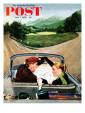 &quot;Fork in the Road&quot; Saturday Evening Post Cover  July 7  1956
