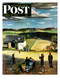 """Flying Kites"" Saturday Evening Post Cover  March 18  1950"