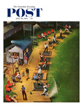 """Golf Driving Range"" Saturday Evening Post Cover  July 26  1952"