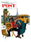 """Parisian Artist & Tourist"" Saturday Evening Post Cover  July 11  1959"