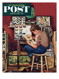 """The Collector"" Saturday Evening Post Cover  August 11  1951"