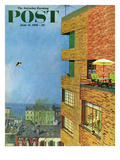 """Apartment Kite Flyer"" Saturday Evening Post Cover  June 14  1958"